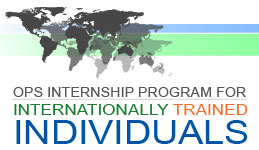 OPS Internship Program for Internationally Trained Individuals