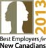 Best Employers for New Canadians 2013